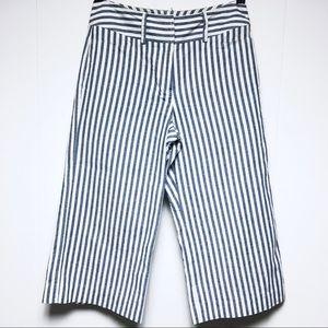 LARRY LEVINE Women's Cropped Capri Striped Pants